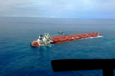 Marinha instala gabinete de crise para navio encalhado no Maranhão