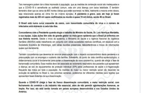 Coronavírus: Entidades de saúde condenam falas de Bolsonaro sobre a Covid-19