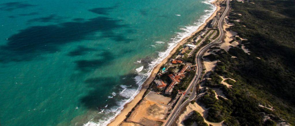 Principal área afetada deve ser a Via Costeira, onde estão os maiores hotéis de Natal. Foto: ABIH-RN/Cedida