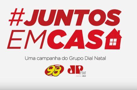 Coronavírus: Grupo Dial Natal – 98FM e Jovem Pan lança a campanha #TodosJuntosEmCasa [Vídeo]