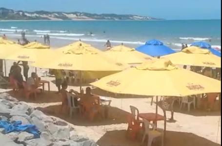 Uso de praias no RN somente para atividades físicas individuais. Cadeiras e mesas estão proibidas