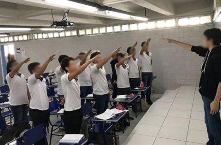 Estudantes fazem saudação nazista em sala de aula e são suspensos