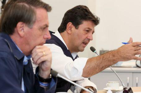 Coronavírus: Bolsonaro visita obra de hospital com Caiado e Mandetta