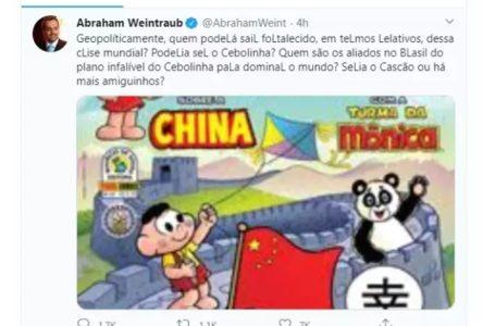 Ministro da Educação usa personagem Cebolinha para ironizar China. Embaixada rebate