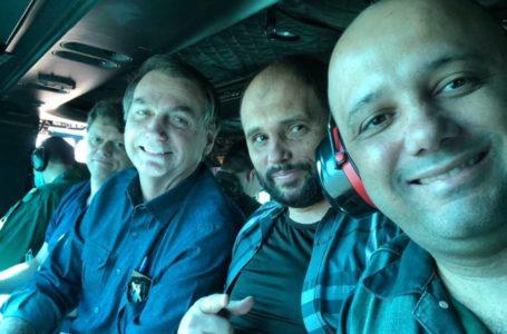 Bolsonaro viaja de helicóptero e visita lanchonete em Goiás