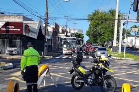 Avenidas Prudente de Morais e Alexandrino de Alencar serão interditadas para obras nesta segunda (8) em Natal
