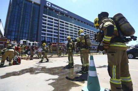 Incêndio em hospital de Brasília força retirada de pacientes