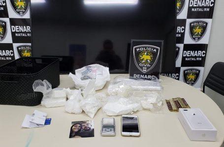 Mulher é presa em Natal suspeita de tráfico interestadual de drogas