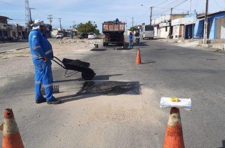 Prefeitura retoma serviços de tapa-buraco em Natal