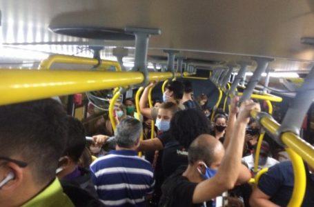 Ônibus e alternativos circulam lotados em mais um dia de greve em Natal