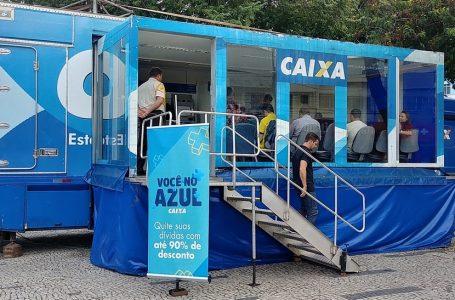 Natal recebe unidade móvel da Caixa que oferece descontos para quitação de dívidas