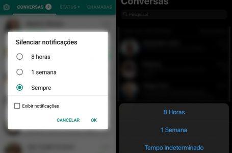 WhatsApp agora permite silenciar conversas e grupos para sempre