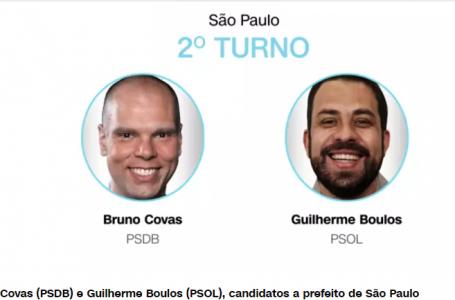 Covas e Boulos disputarão segundo turno para prefeito de São Paulo