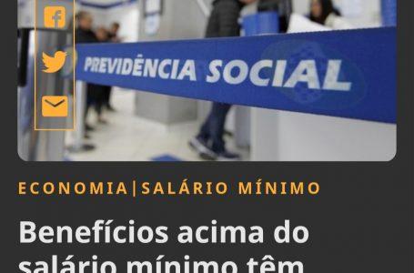 Benefícios acima do salário mínimo tem reajuste de 5,45%