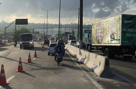 STTU implementa faixa reversível na Ponta de Igapó