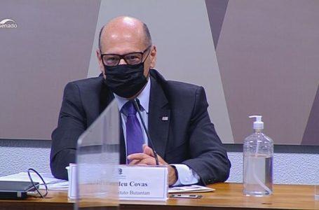 Butantan ofereceu 60 milhões de doses à Saúde em julho de 2020, diz Covas na CPI da Covid