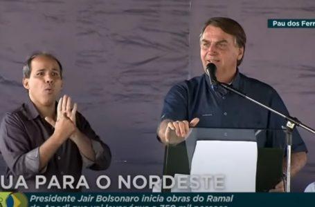 Bolsonaro assina ordem de serviço para obras do Ramal do Apodi