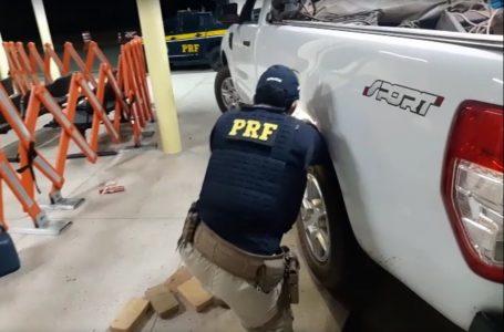 Homem é preso com 80 kg de drogas escondidas em caminhonete no interior do RN