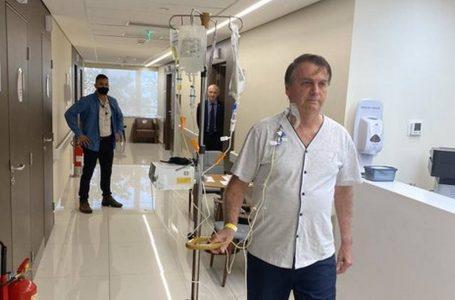 Bolsonaro caminha no hospital: 'Em breve, de volta a campo'