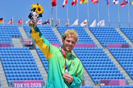 Pedro Barros leva a prata no skate park nas Olimpíadas de Tóquio