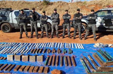 Polícia encontra 100 quilos de explosivos deixados por quadrilha durante assalto em Araçatuba