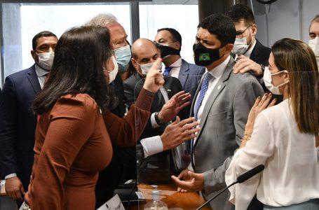 CPI da Covid: Ministro da CGU chama senadora de 'descontrolada' e sessão termina em confusão; VÍDEO
