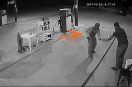 Bandidos gastam menos de 10 segundos para assaltar um posto de combustível no interior do RN