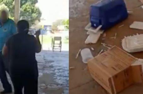 Mulher ameaça profissionais de saúde com faca e joga vacinas no chão após pai não poder se vacinar contra Covid-19 em Goiás